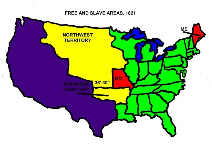 Missouri Compromisean Agreement That Became Law In - Missouri compromise interactive map