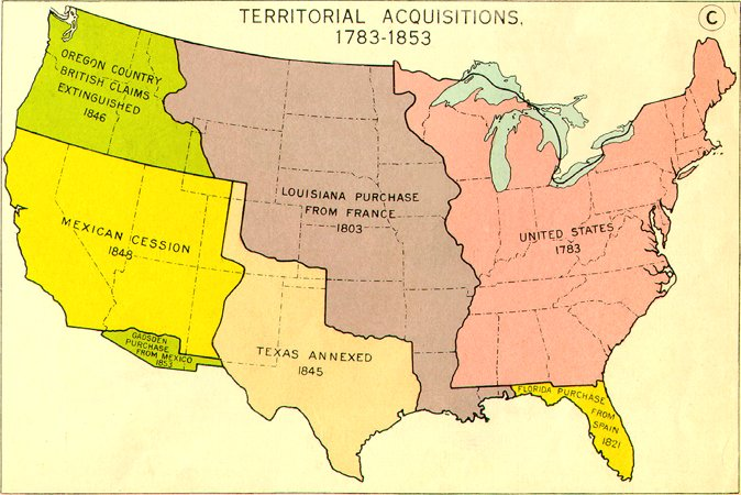 United States Westward Expansion ThingLink - Us westward expansion purchases maps