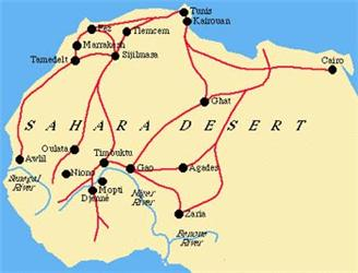 Trans-Saharan Trade Routes - ThingLink