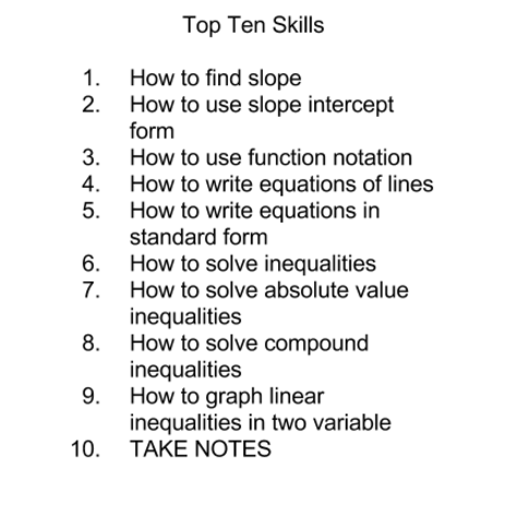 Top Ten Skills In This Semester Thinglink