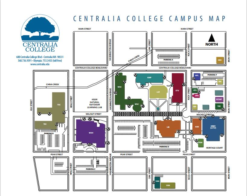 centralia college campus map Welcome To Centralia College centralia college campus map