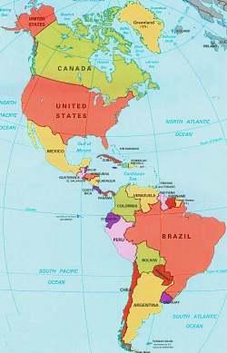 Cartina America Antalexpolicenciaslatamco
