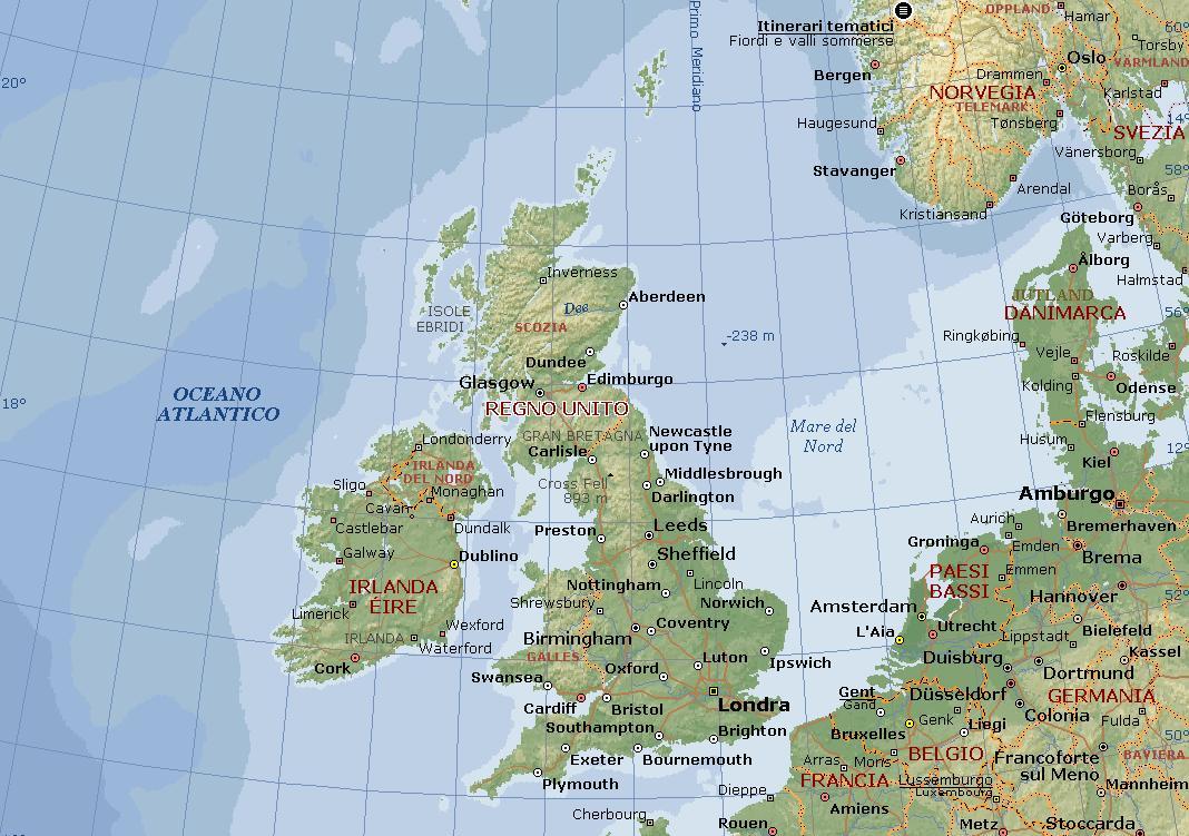 Mare D Irlanda Cartina.123scuola Com Ii Media Unita 5 La Regione Britannica