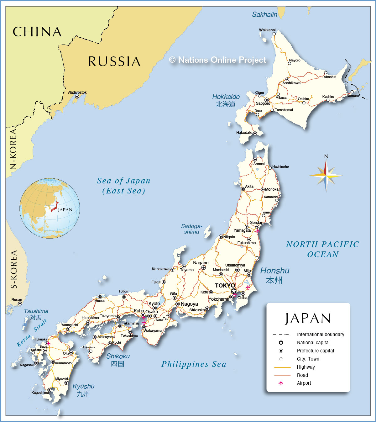 Map Of Japan ThingLink - Japan map in hindi