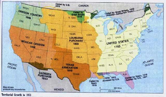Us Map With Teritoal Purchases Globalinterco - Louisiana purchase and western exploration us history map activities