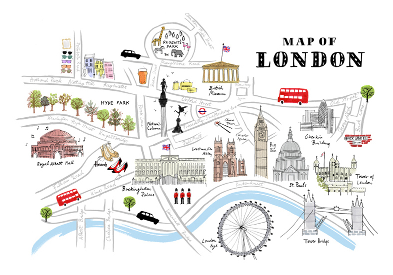 London Landmarks ThingLink – Map of London Landmarks