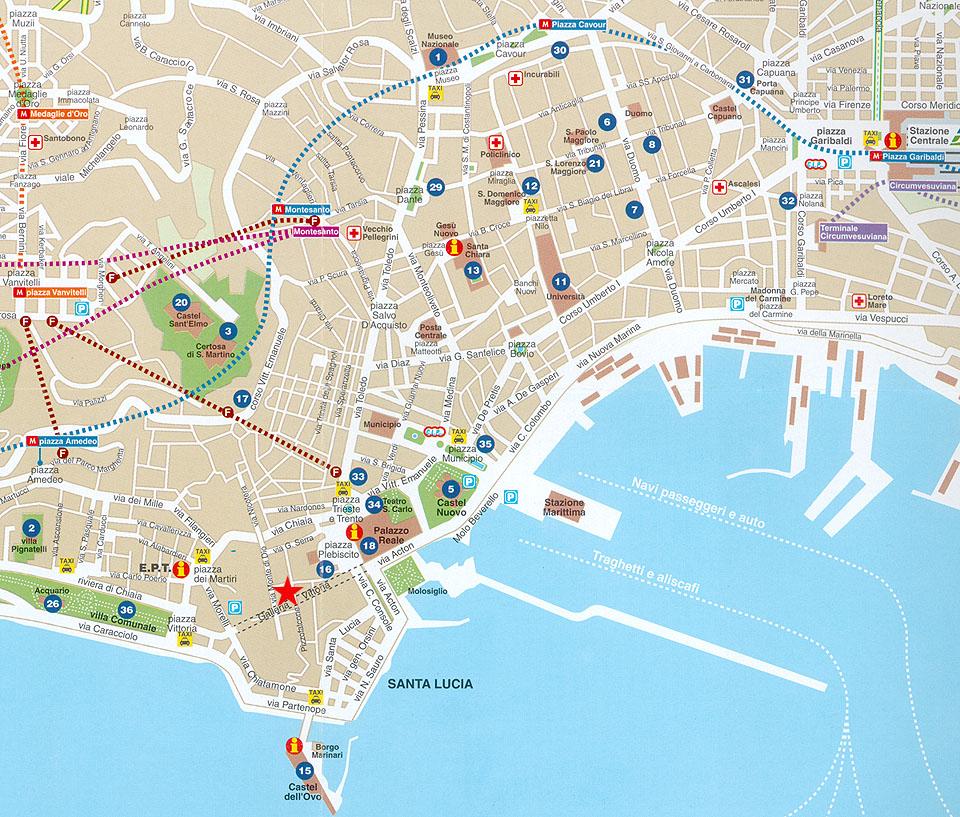 Cartina Stradale Di Napoli Centro.Napoli Cartina Turistica