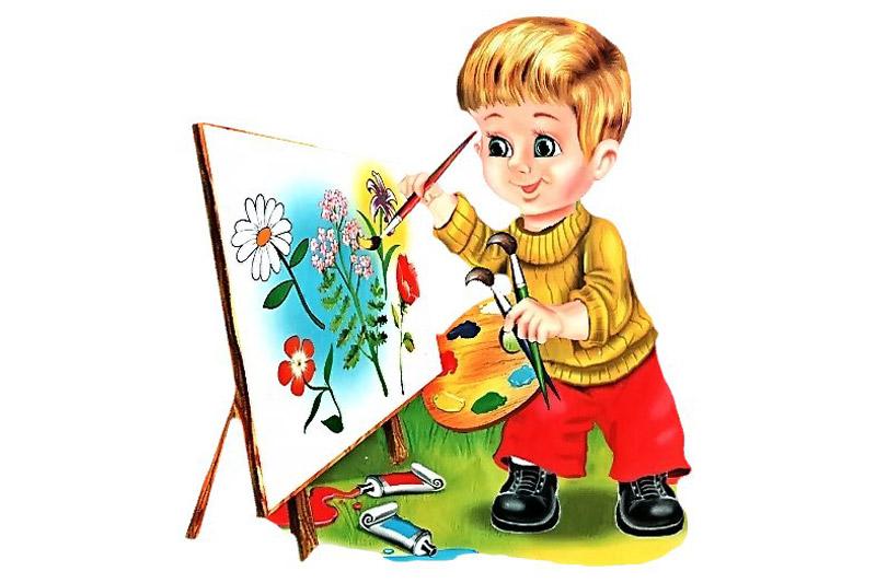 Рисунок на тему юный художник