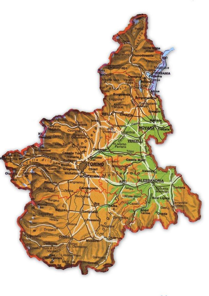 Piemonte Cartina Stradale.La Mia Cartina Interattiva Del Piemonte