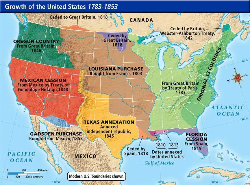 Growth Of The US To  ThingLink - Map of the us in 1853