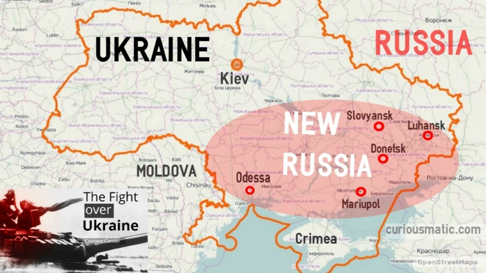 Ukraine And Russia Map.Ukraine And Russia