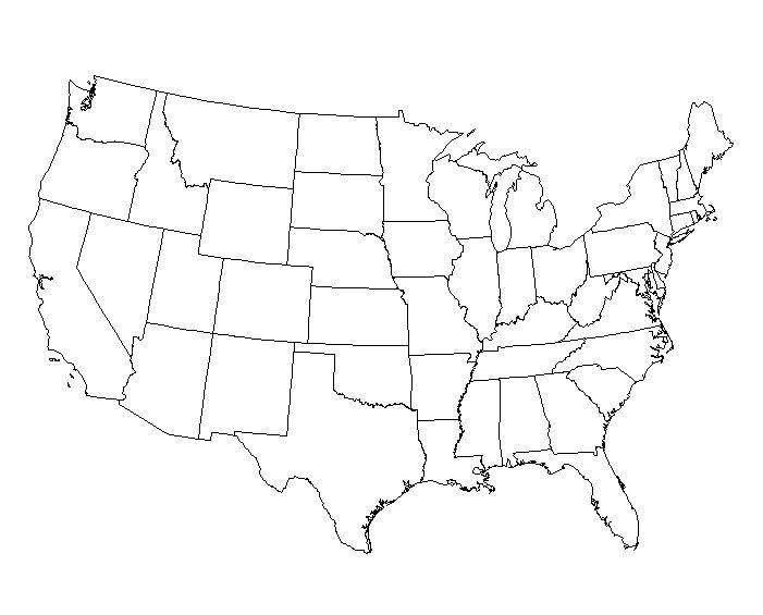 Map Of Usa Without Labels Map Usa Map Images - Usa map plain