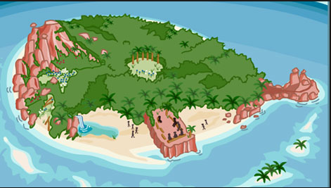 Lord Of The Flies Map Of The Island Lord of the Flies Interactive Map