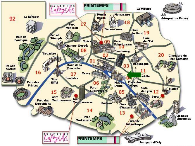 OUR TRIP TO PARIS ThingLink - Paris mapa
