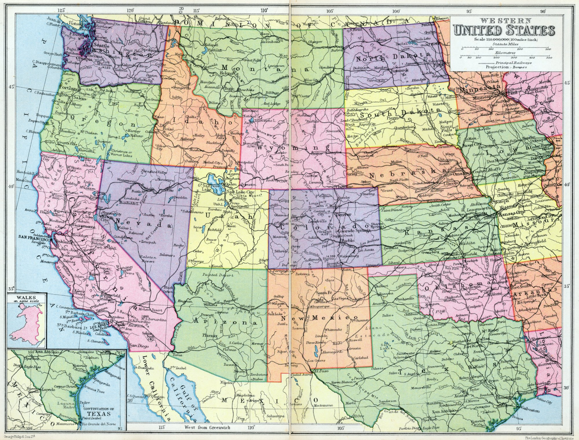 Map Of The Western United States World Map 07