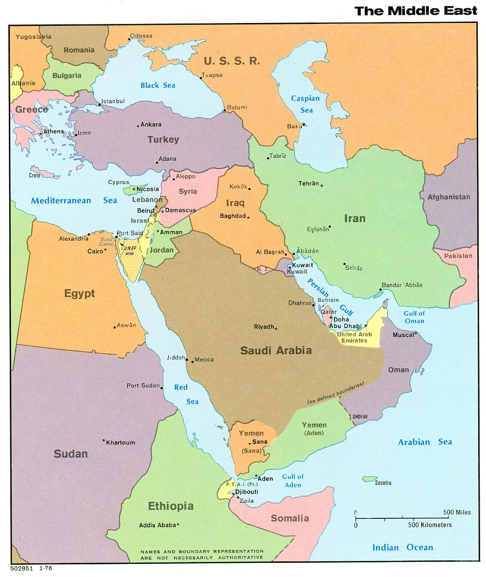 Middle East Map Picture Of Iran ThingLink - Middle east map