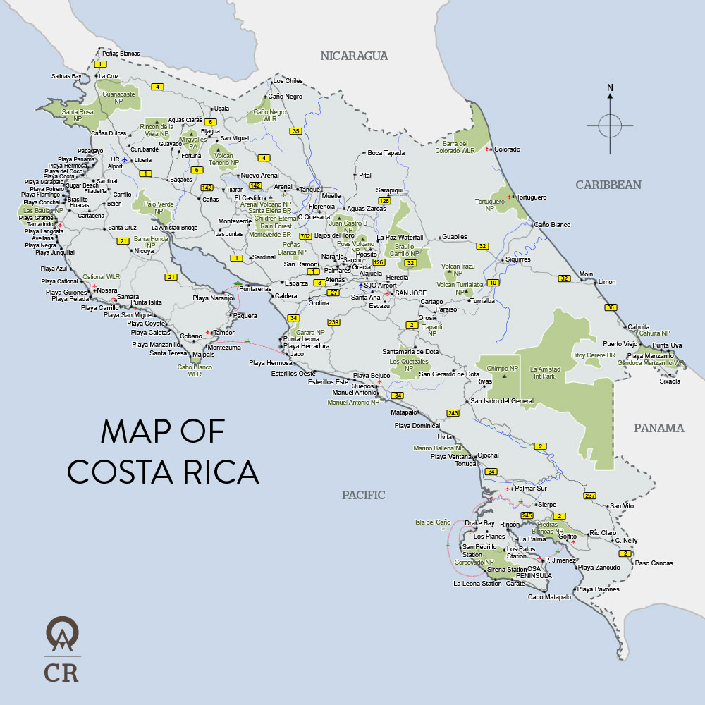Costa Rica map ThingLink