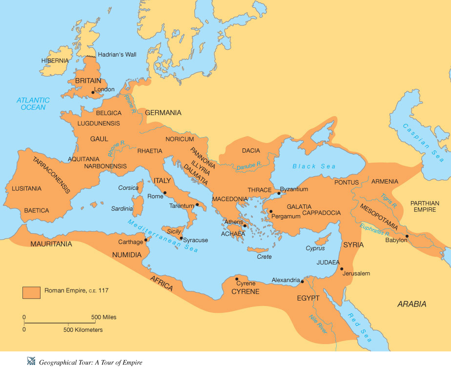 Ancient Rome Project ThingLink - Ancient rome map roman empire