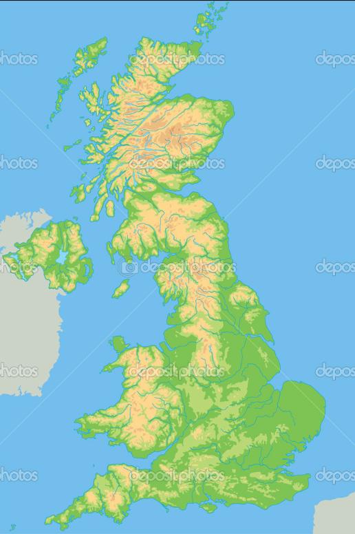 Cartina Fisica Del Regno Unito.Aspetto Fisico Regno Unito Santullo