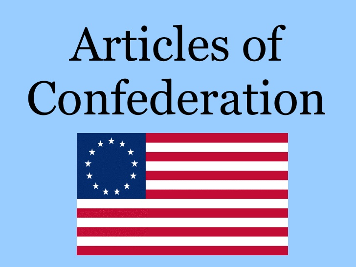What was it? The Articles of Confederation were the first ...