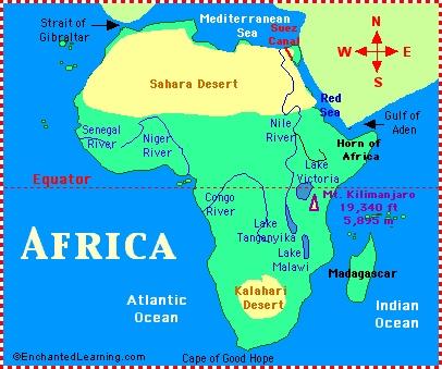 sahara desert map
