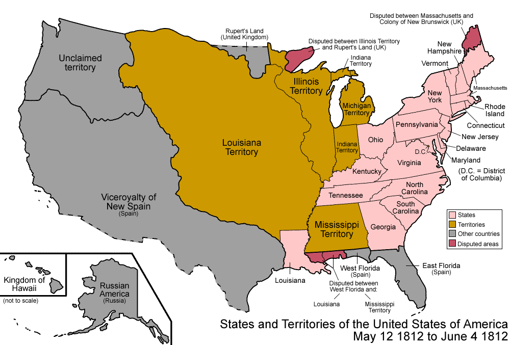 War Of ThingLink - Map of us during war of 1812