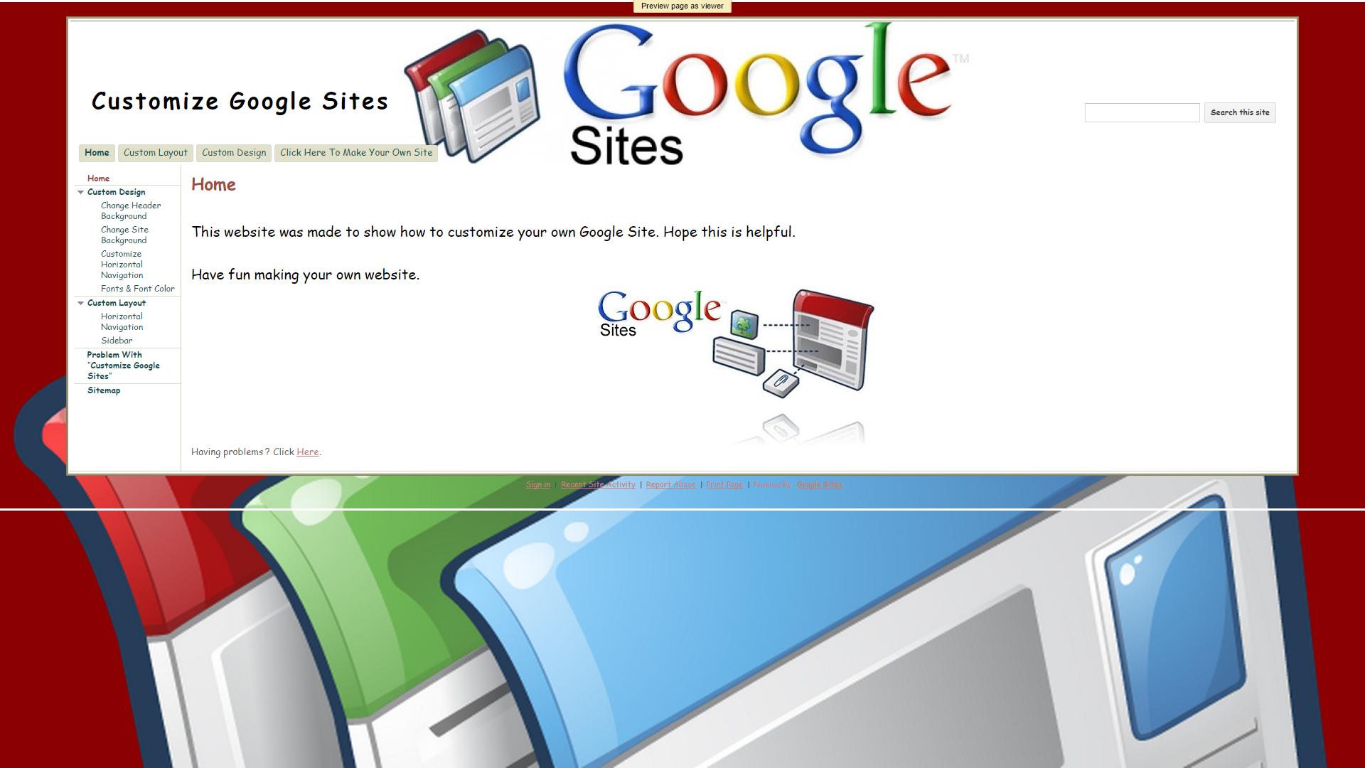 parts of a google site