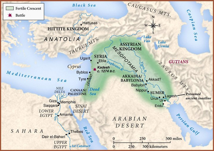 The Map Of Mesopotamia And The Fertile Crescent Came From