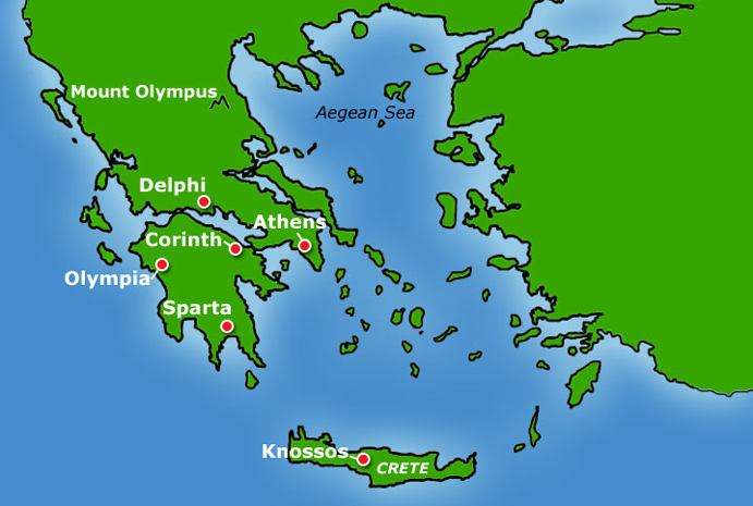 Copy Of \ancient Greece Geography\ Thinglink: Athens Ancient Greece Map At Slyspyder.com