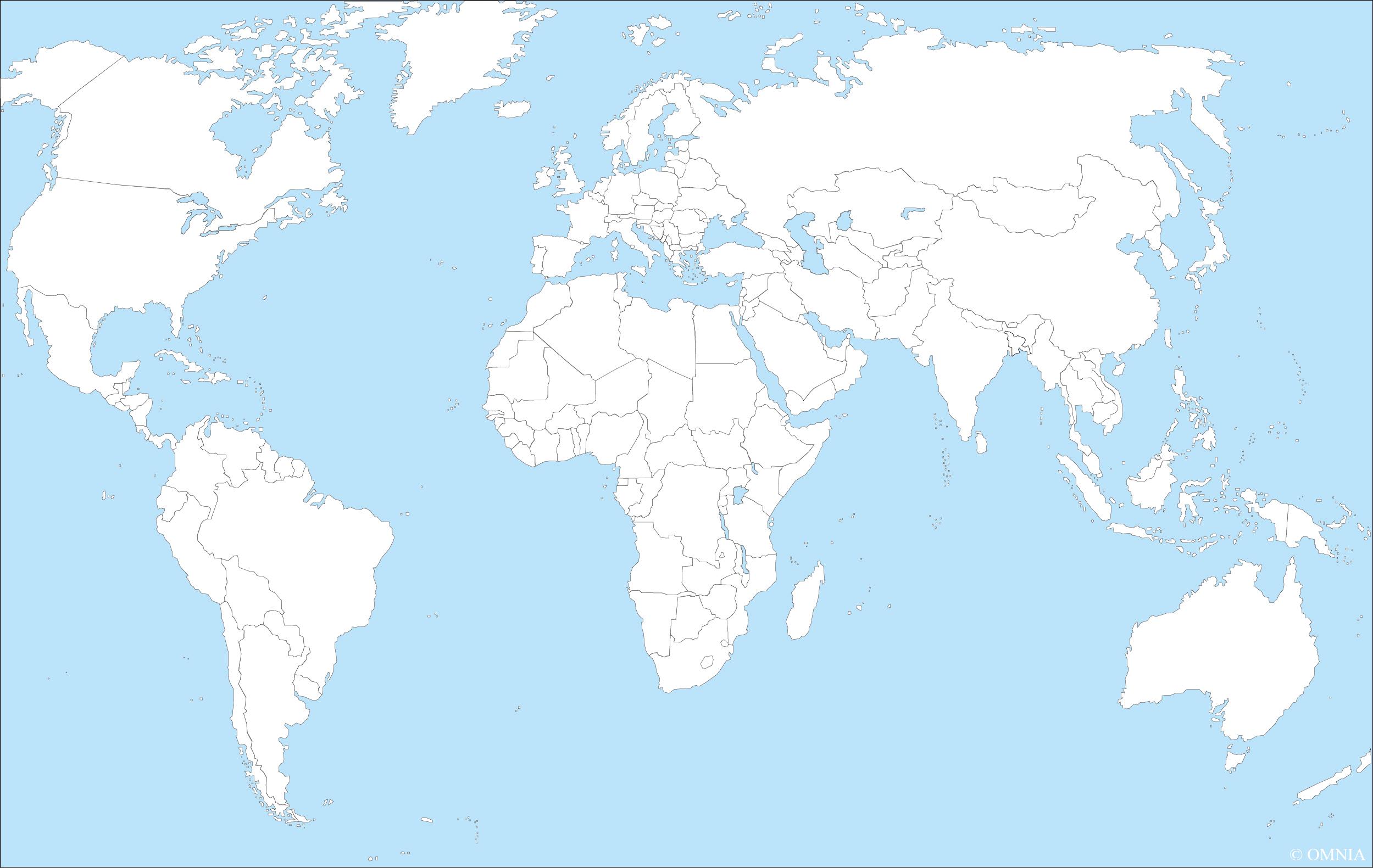 Stumme Karte Welt