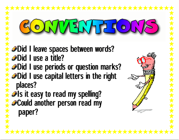 what are conventions in writing