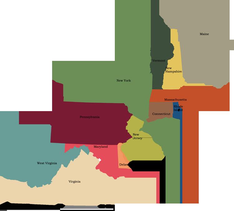 Usa Map Northeast Region Maps Free Usa Maps