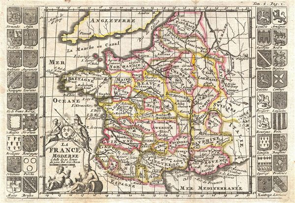 Large Scale Map Of France.France Was Large In Territory In Population It Had Aroun