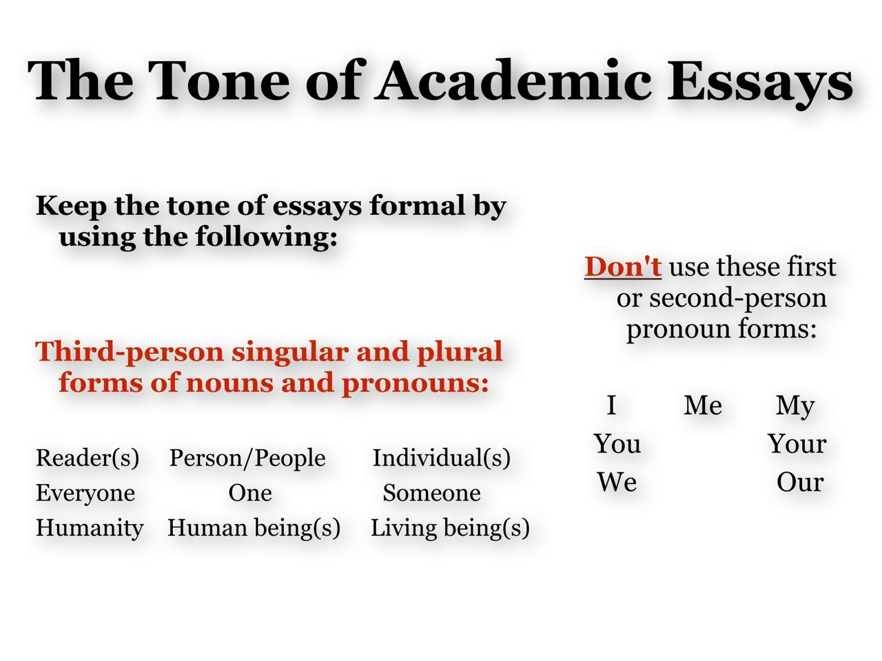 tone essay means Summary: tone literary definition define tone in literature: the definition of tone in literature is the speaker's attitude toward a subject  tone is described with adjectives and it is detected through the writer's word choice and style.
