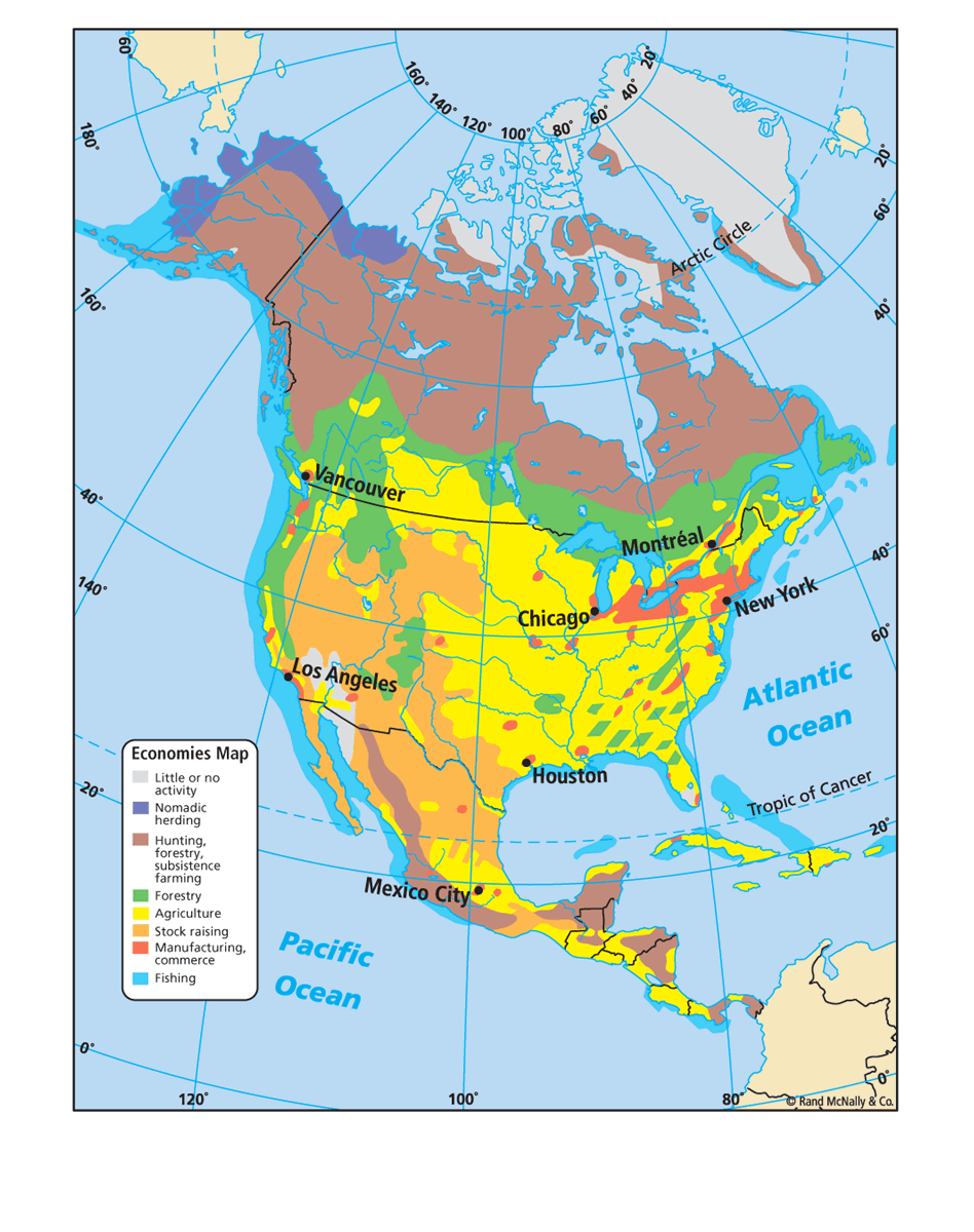 Geography Blog Printable United States Maps US And Canada USA Map - Us economic activity map