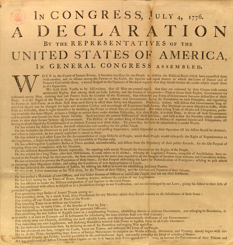 what was the declaration of independence
