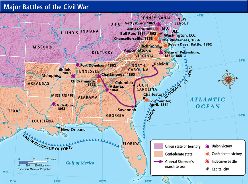 Key Events of the Civil War ThingLink – Civil War Map Worksheet