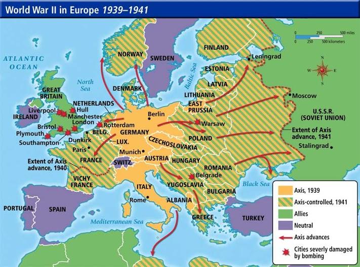 World War 2 Annotated Map