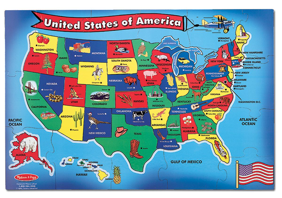United States Natural And ManMade Features ThingLink - Us natural resources map for kids